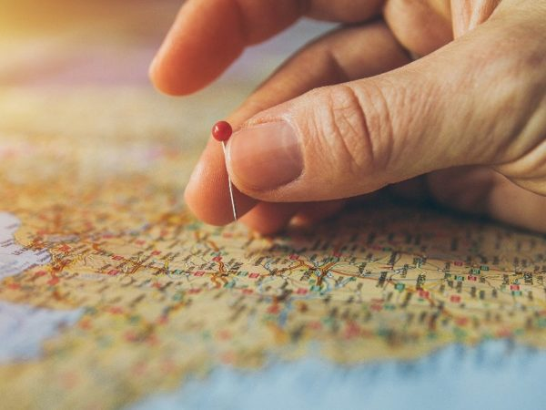 Placing Pinpoint on Geography Map
