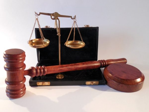 Justice Icons Wooden Gavel Scales